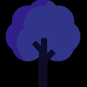 Imagem cartuzinada de árvore